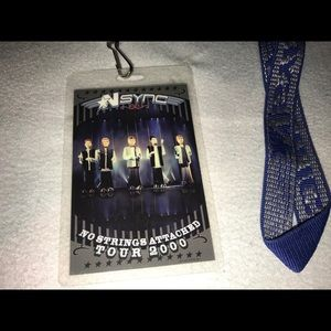 Nsync No Strings Attached 2000 tour lanyard